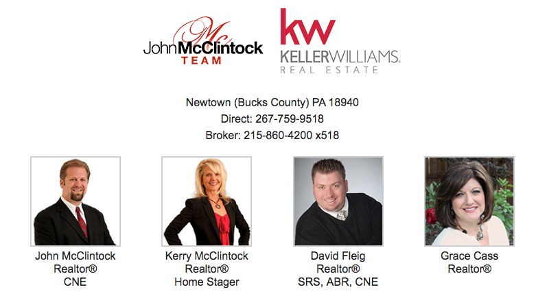 The John McClintock Team, Keller Williams Newtown